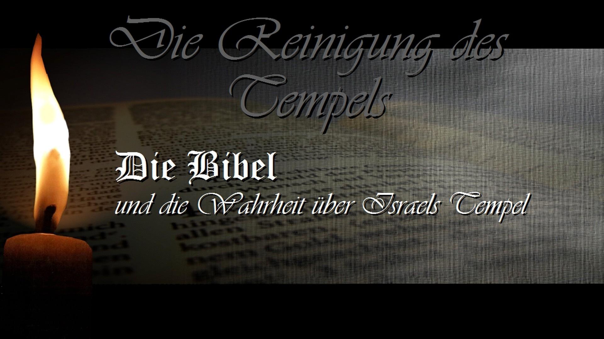 Die Reinigung des Tempels. Die Bibel und die Wahrheit über Israels Tempel. (REF 5)