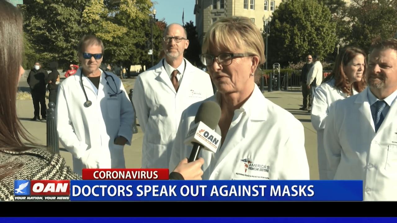 US-Ärzte gegen Gesichtsmasken.